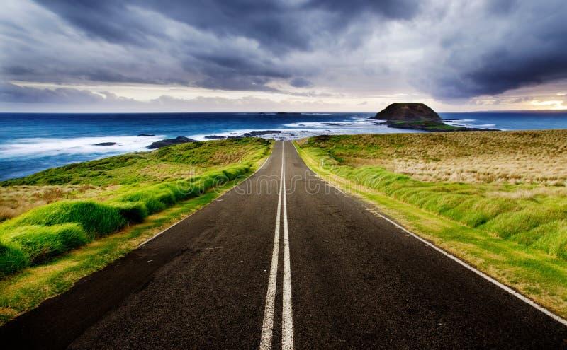 Kust- huvudväg arkivfoto