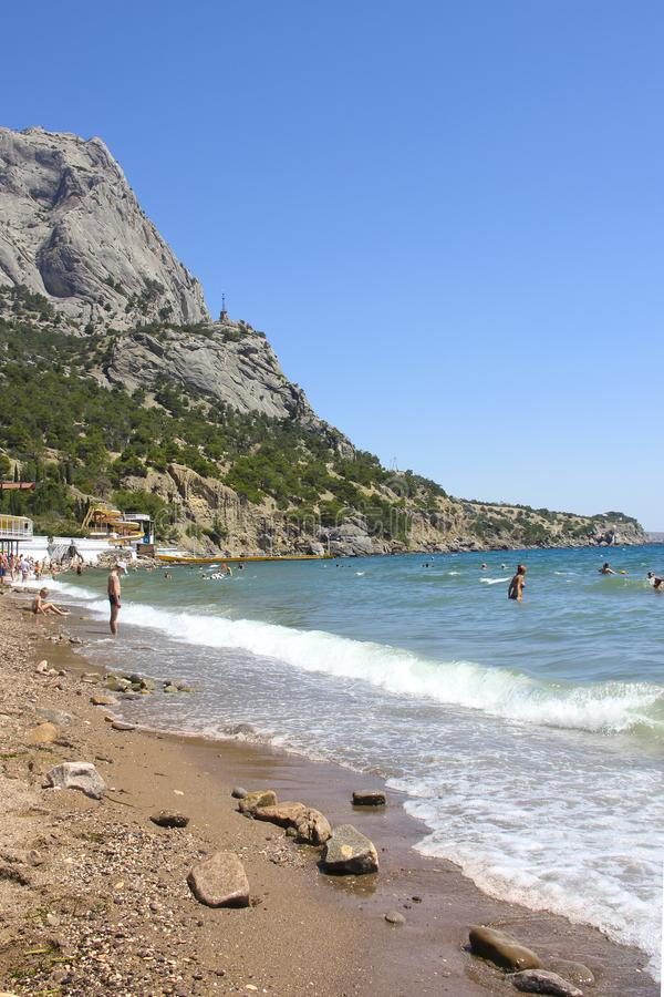 Kust i den Krim Noviy sveten arkivfoto
