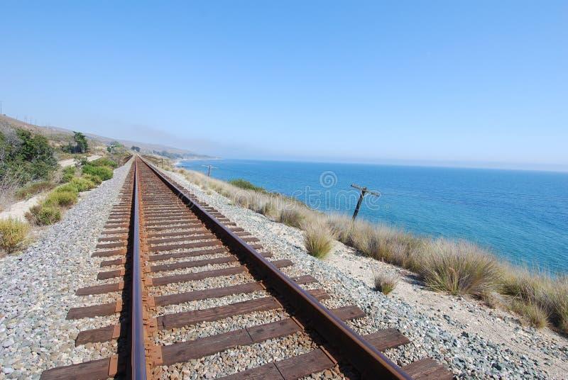 kust- järnvägspår arkivbilder