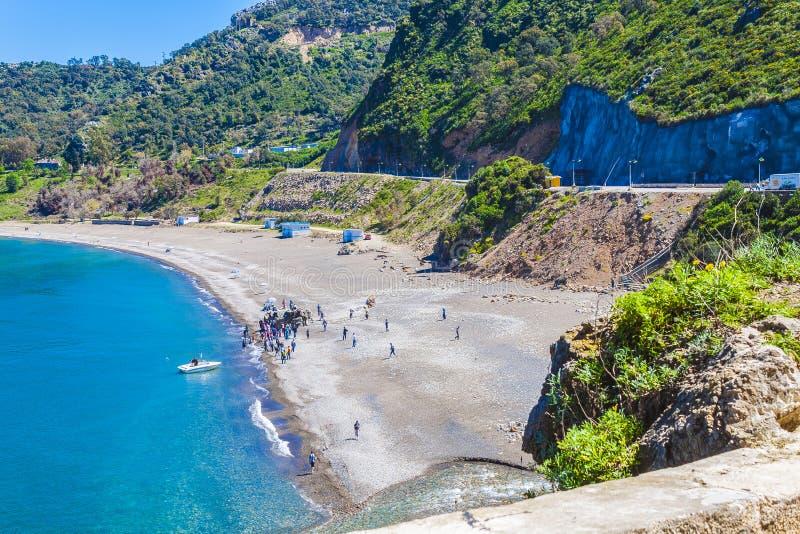 Kust Jijel, Algerije stock fotografie