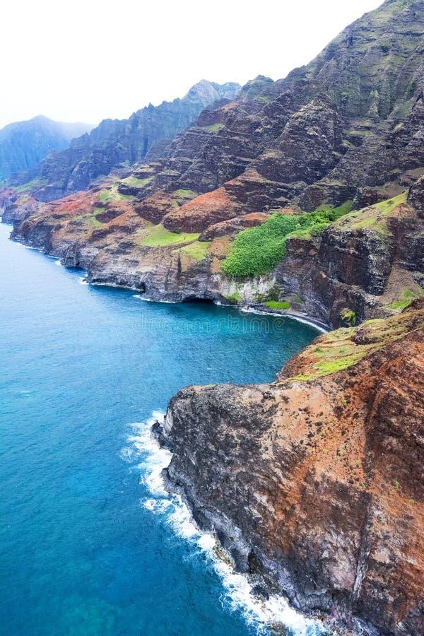 Kust Kauai Hawaii för Na Pali royaltyfria foton