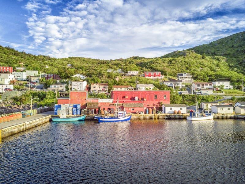 Kust in Kleine Haven bij zonsondergang, Newfoundland, Canada royalty-vrije stock foto