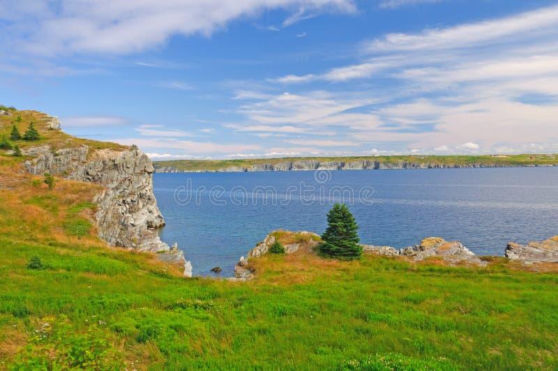 Kust- klippa i den avlägsna norden royaltyfri foto