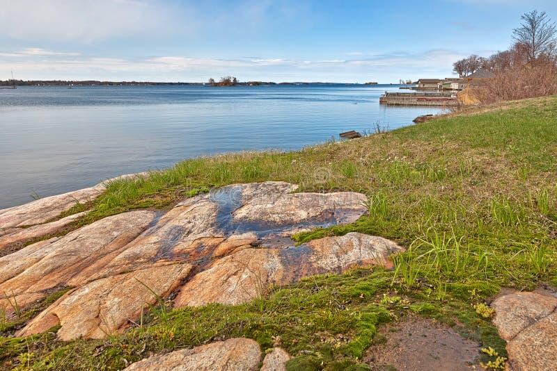 Kust- landskap för Wellesley ö - HDR royaltyfria bilder