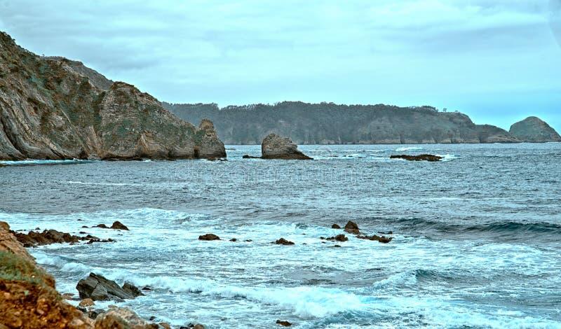 Kust nära Cudilleros, Asturias, Spanien arkivfoto