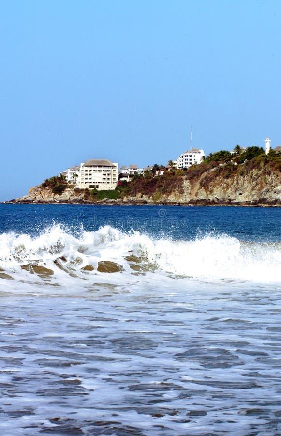 Kust in Puerto Escondido stock afbeeldingen