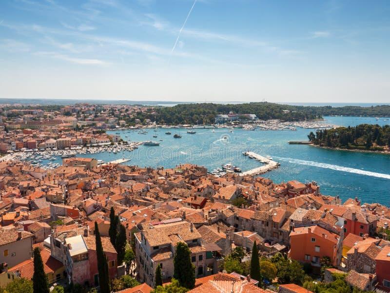 Kust Rovinj, Kroatien royaltyfria foton