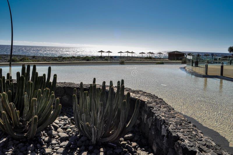 Kust in San Miguel de Abona, Tenerife, Canarische Eilanden in Spanje royalty-vrije stock fotografie