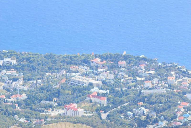 Kust- semesterorter av Krim royaltyfri bild