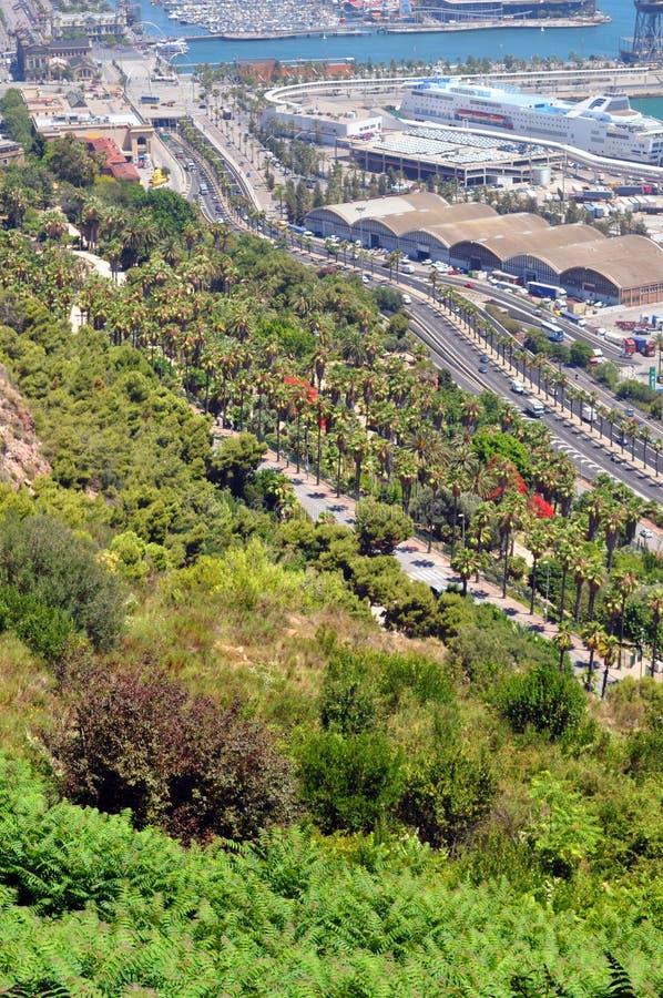 Kust- sikt av Barcelona royaltyfria bilder