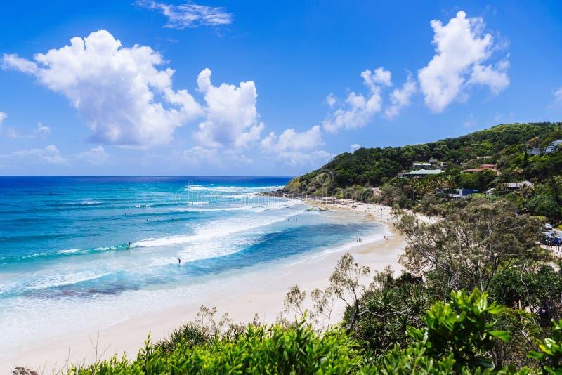 Kust- sikt av Byron Beach royaltyfri foto