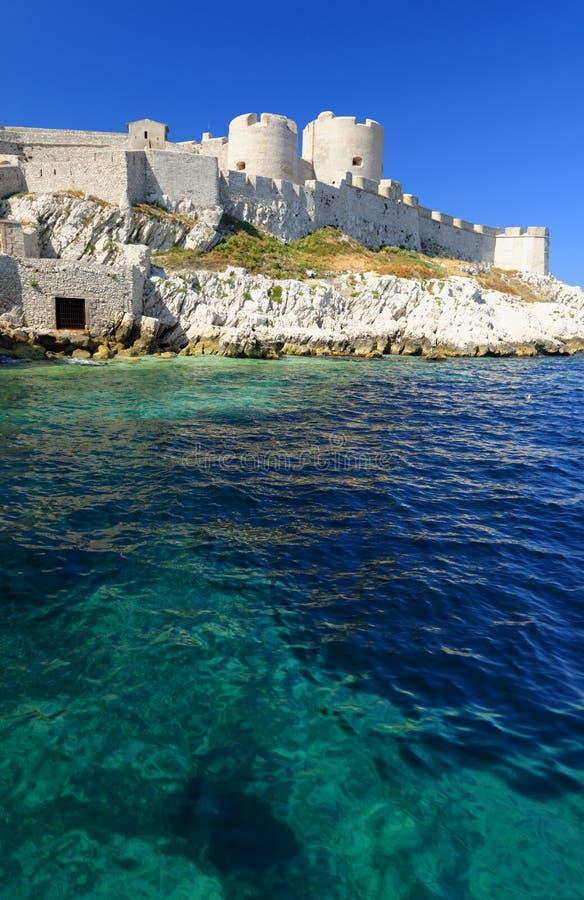 Kust- slott för gammal vit sten arkivfoton