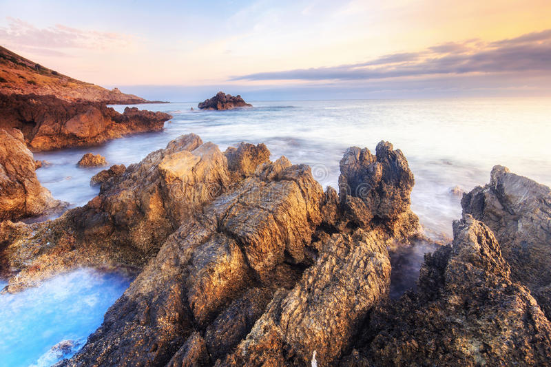 kust- sorrento för equenseliggandemeta vico royaltyfri fotografi