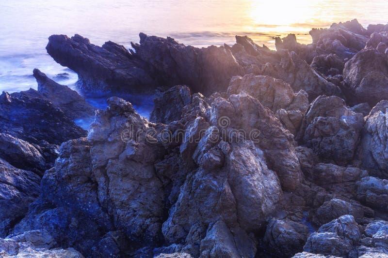 kust- sorrento för equenseliggandemeta vico arkivbild