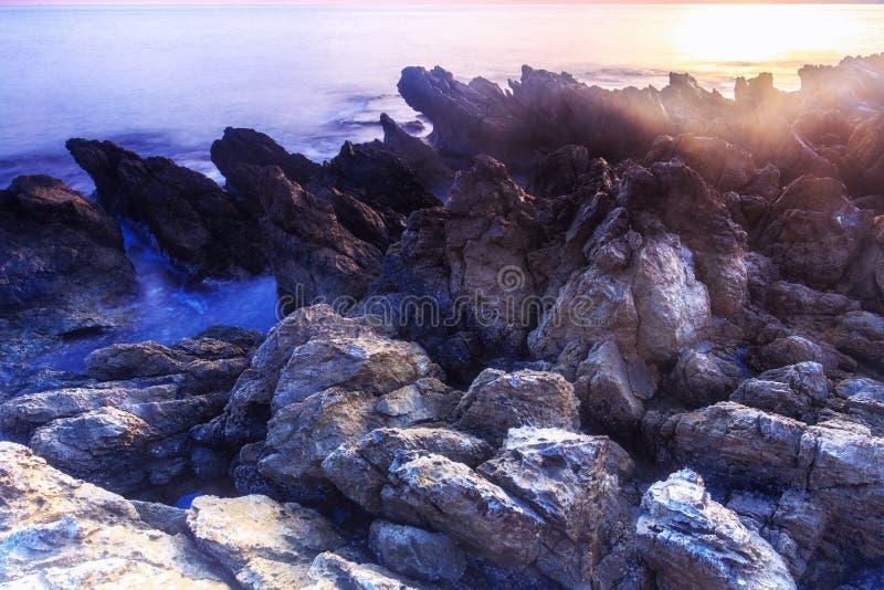 kust- sorrento för equenseliggandemeta vico arkivfoto