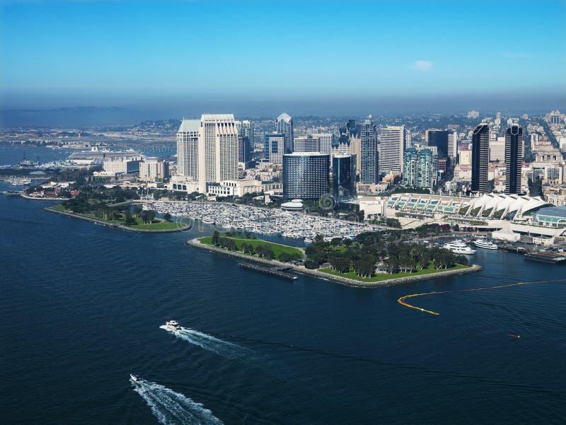Kust stad van San Diego. stock afbeeldingen