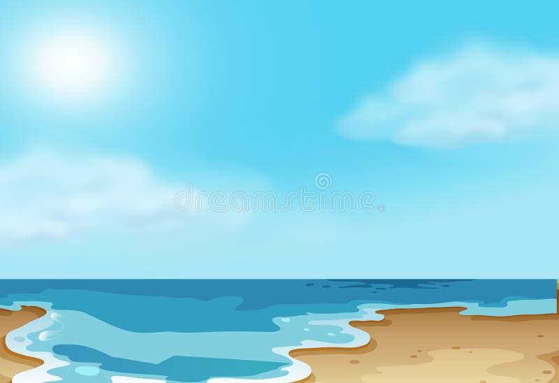 Kust- strandplats för natur stock illustrationer