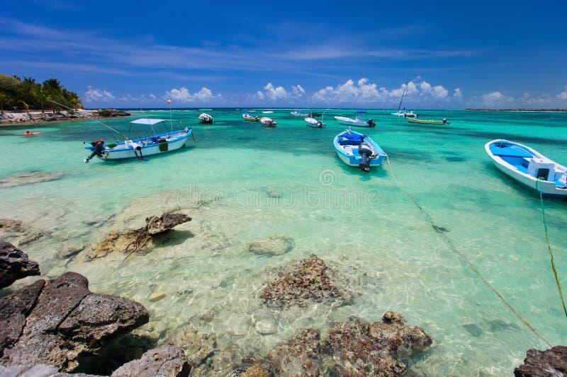 kust tropiska mexico royaltyfri foto
