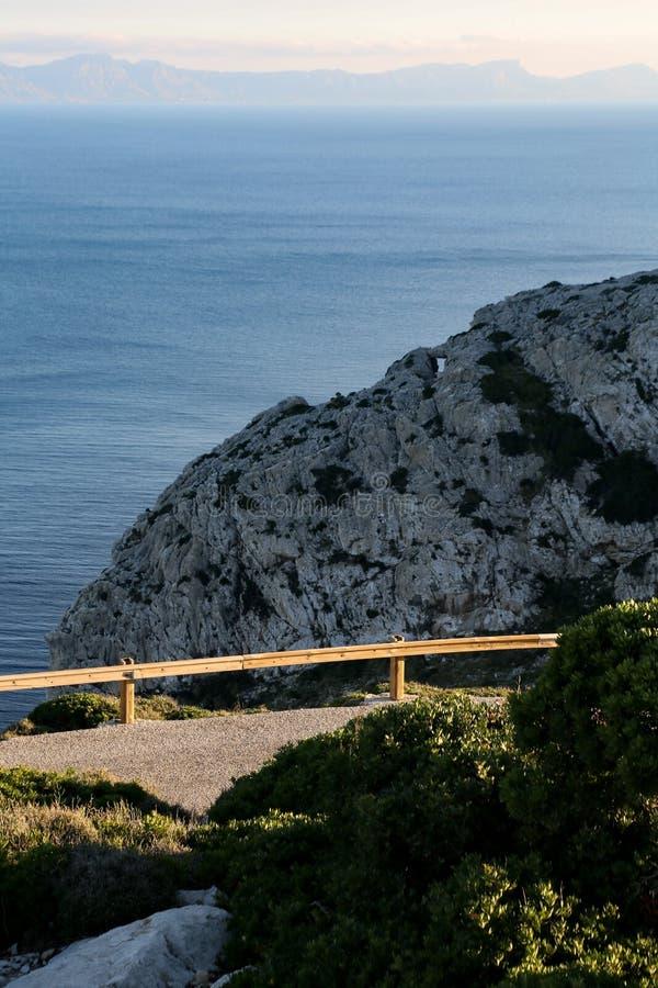Kust- väg Mallorca royaltyfri foto
