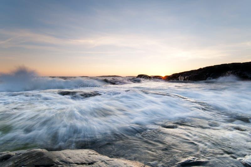 kust västra sweden arkivbilder