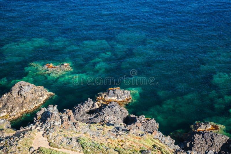 Kust- vaggar i medelhavet, Korsika fotografering för bildbyråer