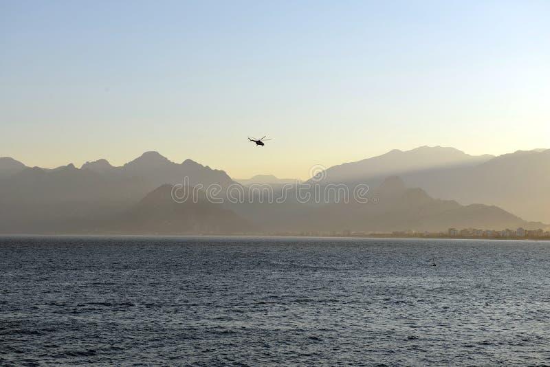 Kust van Antalya, Turkije stock afbeeldingen