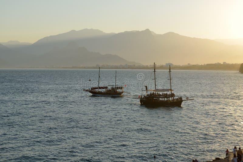Kust van Antalya, Turkije stock foto's