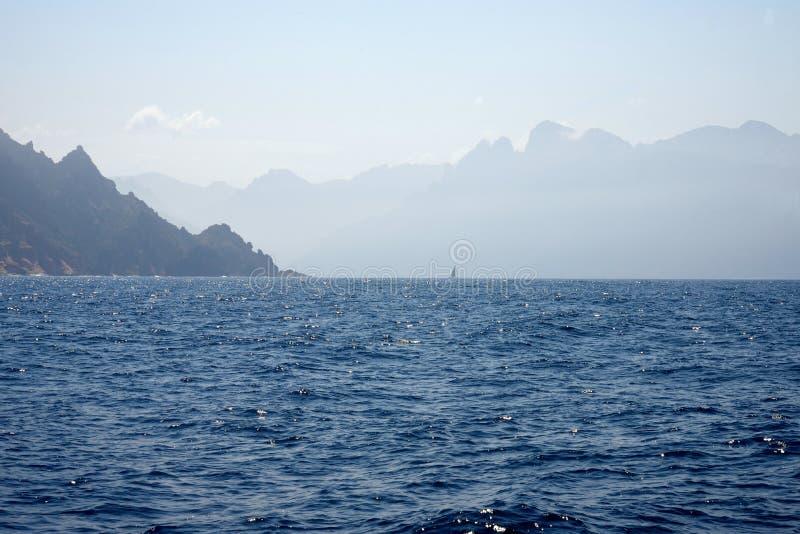 Kust van Corsica royalty-vrije stock fotografie