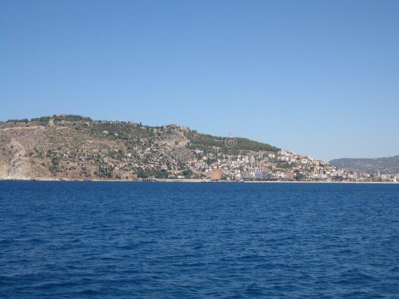Kust van de kustzone van Turkije royalty-vrije stock foto