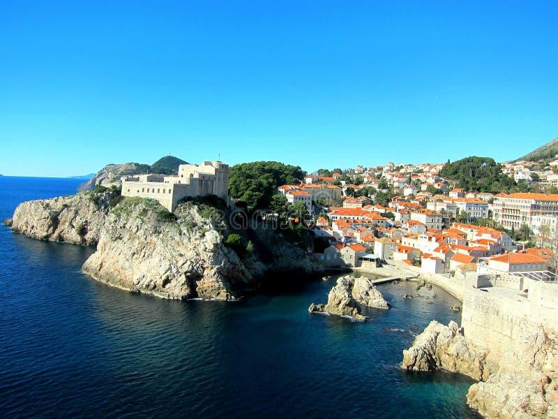 Kust van Dubrovnik stock foto's