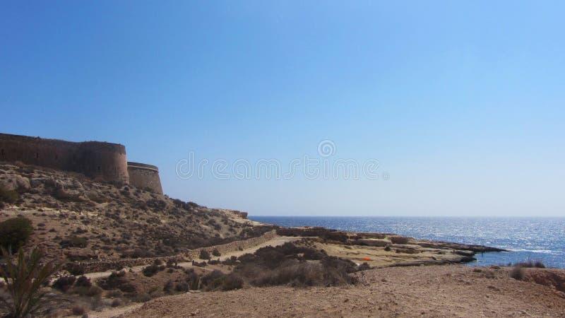Kust van het strand van Gr Playazo DE Rodalquilar royalty-vrije stock afbeelding