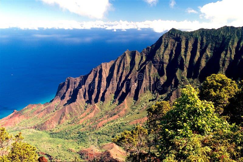Kust van Kauai, Hawaï stock afbeelding