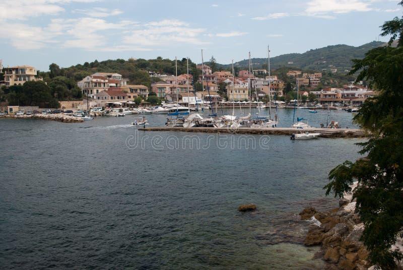 Kust van Korfu stock foto's