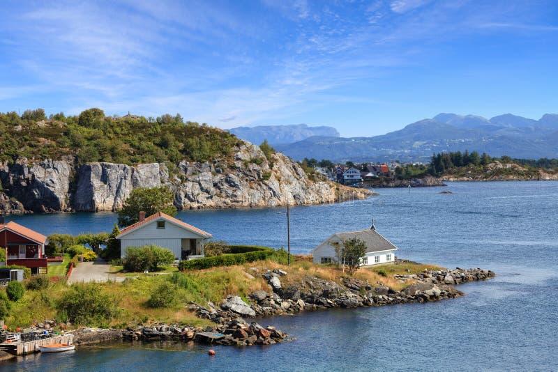 Kust van Noorwegen stock foto's