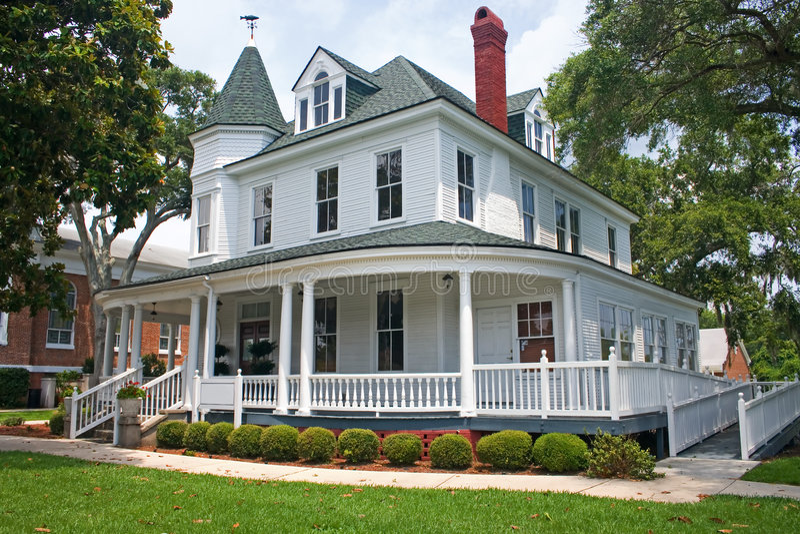 Kust victorian huis 1 royalty-vrije stock foto