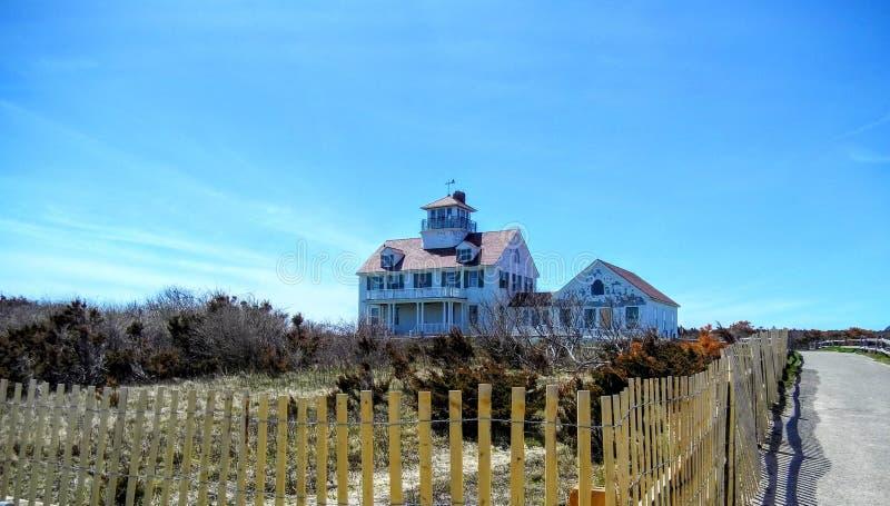 Kustbevakning Station, kustbevakning Beach royaltyfri foto