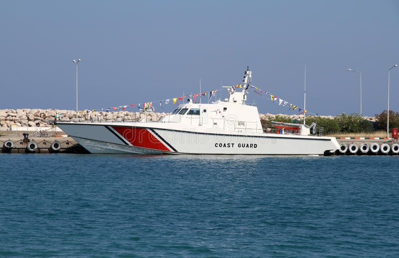 Kustbevakningfartyg arkivbild