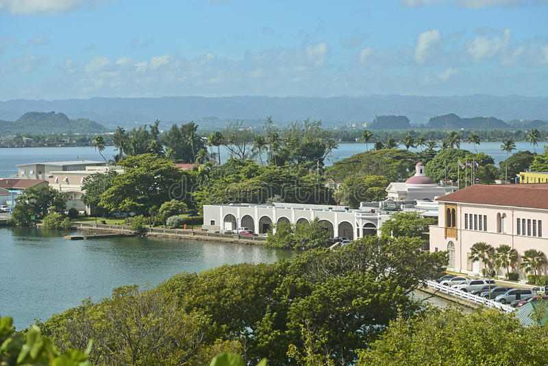 Kustbevakningskeppsdocka, San Juan, Puerto Rico royaltyfria foton