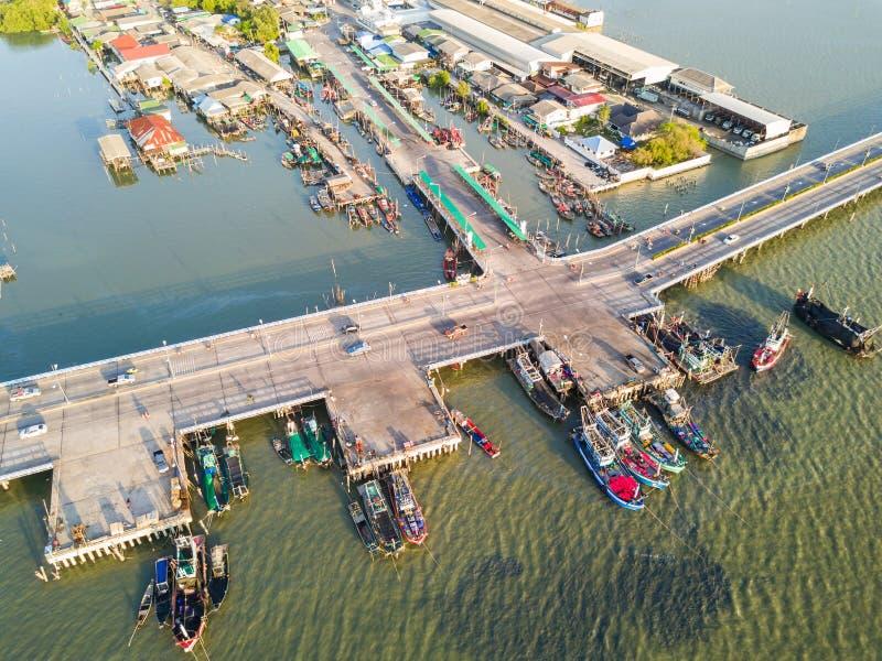 Kustbrug in Chonburi stock fotografie