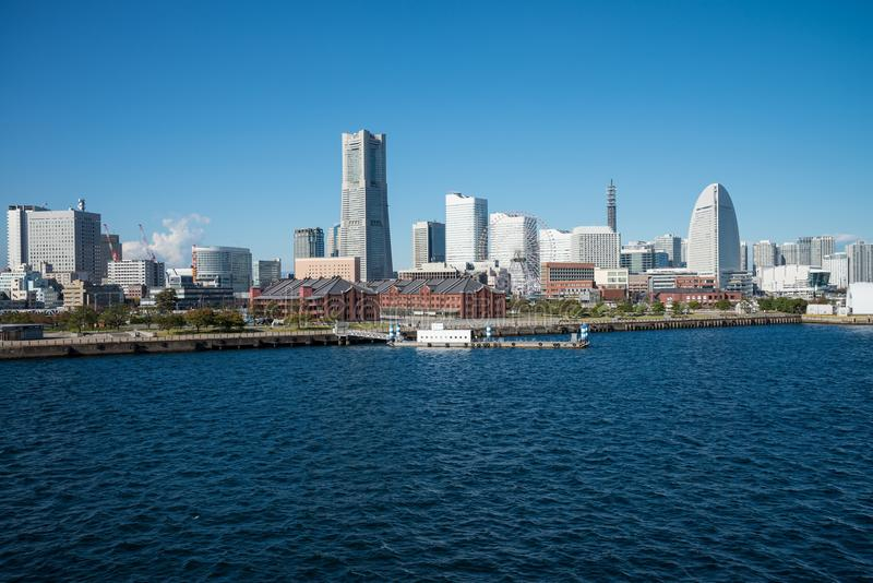 Kustcityscape Yokohama Japan royalty-vrije stock afbeeldingen