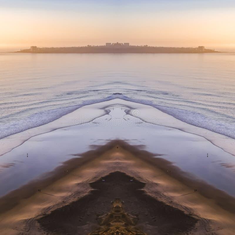 Kusten av Kalifornien med Stilla havet arkivbilder
