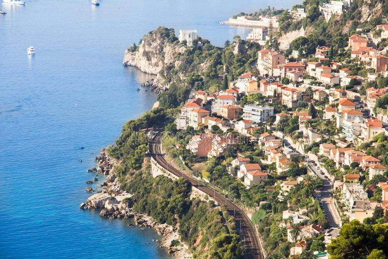 Kusten av Monaco arkivfoto