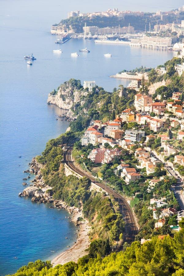 Kusten av Monaco royaltyfria bilder