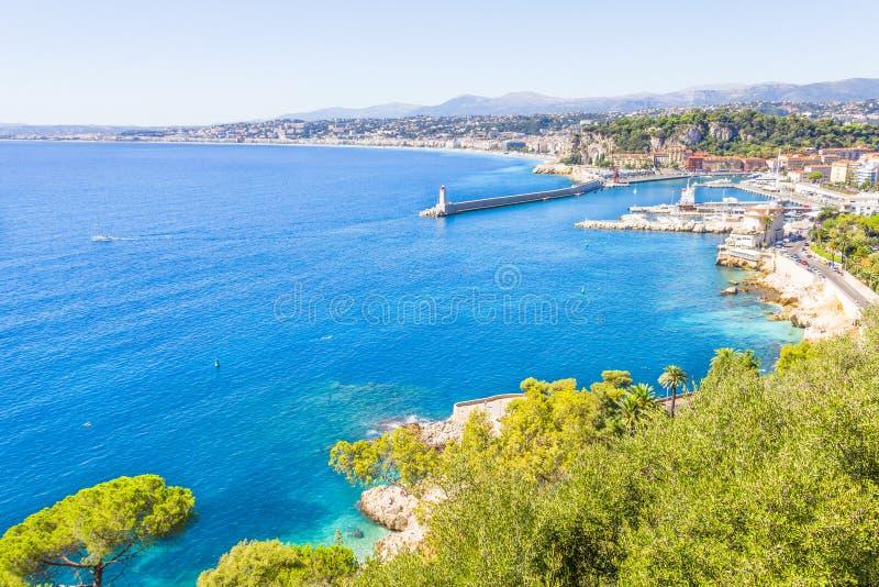 Kusten av Nice, Frankrike arkivfoton