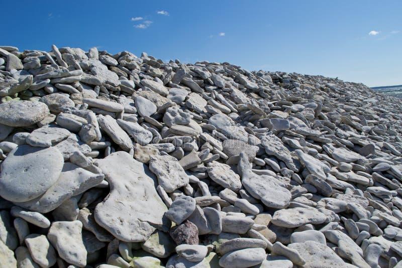 kusten gotland stenar sweden fotografering för bildbyråer