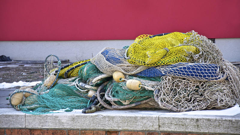 kustfisheren förtjänar arkivbilder