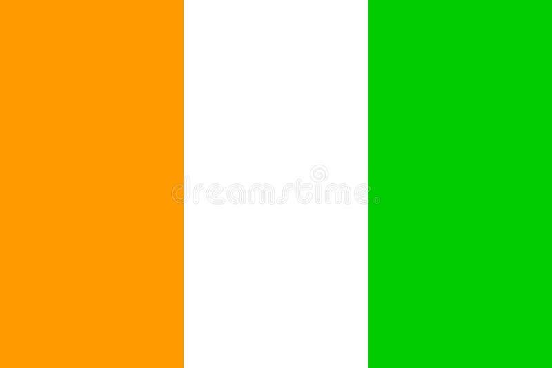 kustflaggaelfenben royaltyfri illustrationer