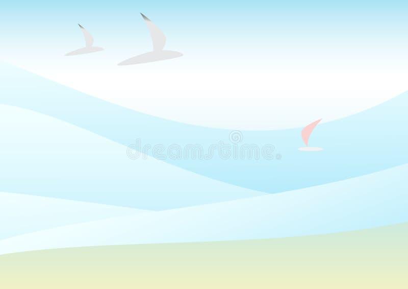 kusthav vektor illustrationer
