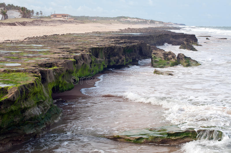 Kustlijn Brazilië stock foto