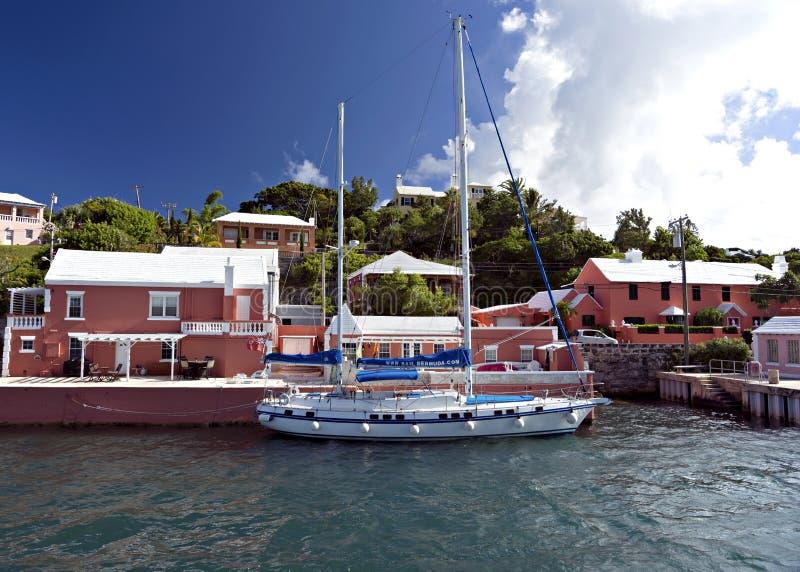 Kustlijn de Bermudas stock afbeeldingen